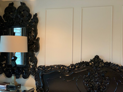 Black ornate headboard